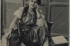 10-Müzisyen kadın 1903 -kartpostal -